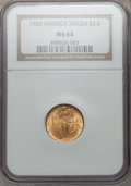 Commemorative Gold: , 1926 $2 1/2 Sesquicentennial MS64 NGC. NGC Census: (2782/1245).PCGS Population (4179/2047). Mintage: 46,019. Numismedia Ws...