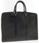 Louis Vuitton Black Epi Leather Porte-Documents Voyage Briefcase Bag This bag is sleek, stylish, and versatile. Use as a...