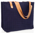 Luxury Accessories:Bags, Hermes Navy Canvas Riding Double Pouch Tote Bag. ...