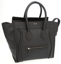 Luxury Accessories:Bags, Celine Black Leather Luggage Tote Bag . ...