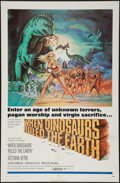 """Movie Posters:Fantasy, When Dinosaurs Ruled the Earth (Warner Brothers, 1970). One Sheet(27"""" X 41""""). Fantasy.. ..."""