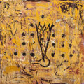 Paintings, CHONG KEUN CHU (Korean/American, 20th Century). East Entrance III, 1995. Oil and encaustic on canvas. 12 x 12 inches (30...