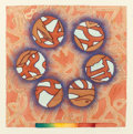 Works on Paper, BENITO HUERTA (American, b. 1952). Deseo y Temor , 1994. Watercolor and pencil on paper. 16-1/2 x 16 inches (41.9 x 40.6...