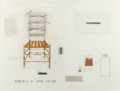 Fine Art - Work on Paper:Drawing, THE ART GUYS (American, 20th Century). Study for Springs in theChair, 1994. Mixed media on paper. 22-1/4 x 29-3/4 inche...