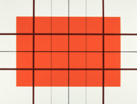 DONALD JUDD (American, 1928-1994) Untitled, 1992 Lithograph in colors on Rives B.F.K. 23-1/2 x 31