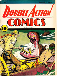 Double Action Comics #2 Cover Only (DC, 1940)