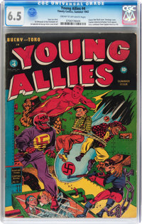 Young Allies Comics #4 (Timely, 1942) CGC FN+ 6.5 Cream to off-white pages