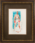 Boxing Collectibles:Memorabilia, 1966 Muhammad Ali Original Artwork by LeRoy Neiman....