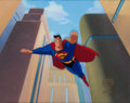"Animation Art:Production Cel, Superman: The Animated Series ""The Last Son of Krypton: PartIII"" Production Cel and Background Animation Art (Warner ..."