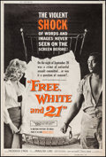 "Movie Posters:Exploitation, Free, White and 21 (American International, 1963). Poster (40"" X60""). Exploitation.. ..."