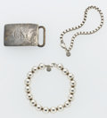 Estate Jewelry:Lots, Sterling Silver Lot, Tiffany & Co. ... (Total: 3 Items)