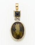 Estate Jewelry:Pendants and Lockets, Multi-stone, Gold, Sterling Silver Pendant-Enhancer, MichaelDawkins. ...