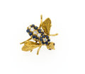 Estate Jewelry:Brooches - Pins, Sapphire, Diamond, Ruby, Gold Bee Brooch. ...