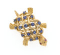 Estate Jewelry:Brooches - Pins, Sapphire, Ruby, Gold Turtle Brooch. ...