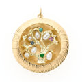 Estate Jewelry:Pendants and Lockets, Multi-Stone, Gold Tree of Life Charm. ...