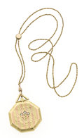 Estate Jewelry:Pendants and Lockets, Diamond, Bicolor Gold Locket. ...