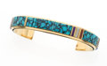 Estate Jewelry:Bracelets, Multi-Stone, Gold Bracelet, Phil and Fannie Bitsoi-Russell, Navajo....