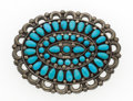 Estate Jewelry:Brooches - Pins, Turquoise, Silver Pendant-Brooch, Fannie & Warren Odelacy,Zuni. ...