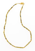 Estate Jewelry:Necklaces, Rough Diamond, Gold Necklace. ...