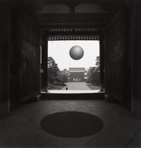 JERRY UELSMANN (American, b. 1934) Pagoda Window with Sphere, 1980 Gelatin silver 16-1/4 x 15-1/