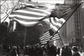 Photographs:20th Century, Thomas Frederick Arndt (American, b. 1944). Two American Flags,Freed Iranian Hostage Tickertape Parade, New York City, ...