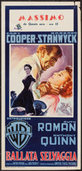 """Movie Posters:Action, Blowing Wild (Warner Brothers, 1954). Italian Locandina (13"""" X27.5""""). Action.. ..."""