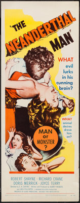 "The Neanderthal Man (United Artists, 1953). Insert (14"" X 36""). Horror"