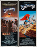 """Movie Posters:Action, Superman II & Other Lot (Warner Brothers, 1981). Inserts (2) (14"""" X 36""""). Action.. ..."""