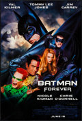 "Movie Posters:Action, Batman Forever (Warner Brothers, 1995). John Alvin Signed One Sheet(27"" X 40"") SS Advance. Action.. ..."
