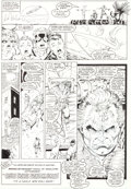 Original Comic Art:Panel Pages, Rob Liefeld and Bob Wiacek New Mutants #87 Page 31 OriginalArt (Marvel, 1990)....