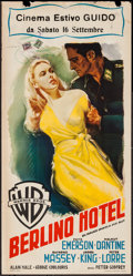 "Movie Posters:War, Hotel Berlin (Warner Brothers, 1945). Italian Locandina (13"" X27.25""). War.. ..."