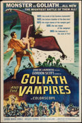 """Movie Posters:Horror, Goliath and the Vampires (American International, 1964). Poster (40"""" X 60""""). Horror.. ..."""