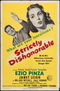 """Movie Posters:Comedy, Strictly Dishonorable & Other Lot (MGM, 1951). One Sheets (2) (27"""" X 41""""). Comedy.. ... (Total: 2 Items)"""
