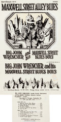 Original Comic Art:Illustrations, Robert Crumb Maxwell Street Alley Blues Album Cover Original Art (Barrelhouse, 1972)....