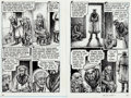Original Comic Art:Panel Pages, Robert Crumb Kafka For Beginners (R. Crumb's Kafka)Pages 90-91 Original Art (Totem Books, 1993)....
