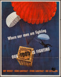 """Movie Posters:War, World War II Propaganda (U.S. Government Printing Office, 1943).Poster (22"""" X 28"""") OWI Poster No. 35 """"Where Our Men Are Fig..."""