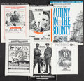 Movie Posters:Adventure, Mutiny on the Bounty & Others Lot (MGM, 1962). Cut & UncutPressbooks (107) (Multiple Pages, Various Sizes), Presskits (2)(... (Total: 107 Items)