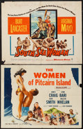 "Movie Posters:Adventure, South Sea Woman & Other Lot (Warner Brothers, 1953). HalfSheets (2) (22"" X 28""). Adventure.. ... (Total: 2 Items)"