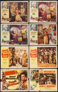 """Movie Posters:Adventure, Devil Goddess & Others Lot (Columbia, 1955). Title Lobby Card& Lobby Cards (7) (11"""" X 14""""). Adventure.. ... (Total: 8 Items)"""