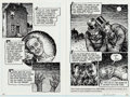 Original Comic Art:Panel Pages, Robert Crumb Kafka For Beginners (R. Crumb's Kafka)Pages 94-95 Original Art (Totem Books, 1993)....