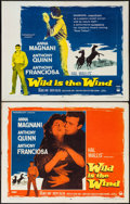 """Movie Posters:Drama, Wild is the Wind (Paramount, 1957). Half Sheets (2) (22"""" X 28"""")Style A & B. Drama.. ... (Total: 2 Items)"""