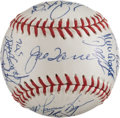 Baseball Collectibles:Balls, 1996 New York Yankees Team Signed Mini Baseball. ...