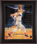 Baseball Collectibles:Photos, Ted Williams Signed Oversized Print. ...