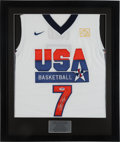Basketball Collectibles:Uniforms, Larry Bird Signed USA Jersey. ...