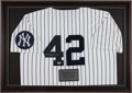 Baseball Collectibles:Uniforms, Mariano Rivera Signed New York Yankees Jersey. ...
