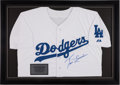 Baseball Collectibles:Uniforms, Tom Lasorda Signed Los Angeles Dodgers Jersey. ...