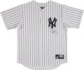 Baseball Collectibles:Uniforms, Darryl Strawberry Signed New York Yankees Jersey. ...