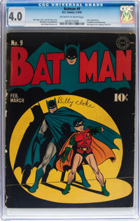 Batman #9 (DC, 1942) CGC VG 4.0 Off-white to white pages