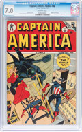 Golden Age (1938-1955):Superhero, Captain America Comics #60 (Timely, 1947) CGC FN/VF 7.0 Off-white pages....