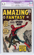 Silver Age (1956-1969):Superhero, Amazing Fantasy #15 (Marvel, 1962) CGC Apparent FN+ 6.5 Slight (A) Off-white pages....